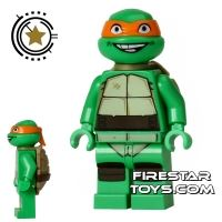 Product shot LEGO Teenage Mutant Ninja Turtles Mini Figure - Michelangelo - Smiling