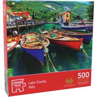 Product shot Lake Garda Italy 500 Piece Jigsaw Puzzle