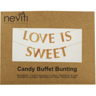 Product shot Love Is Sweet Kraft Buffet Bunting