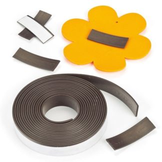 Magnetic Tape - 2.5m long self-adhesive magnetic strip - 12mm wide. Flexible and easy to cut with scissors.