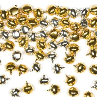 Mini Craft Bells - 150 Gold & Silver Jingle Bells for creating jewellery or for Christmas crafts. Bell size 10mm.