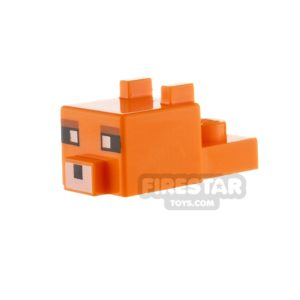 Product shot Modified Printed Plate 1x2 Minecraft Fox Head