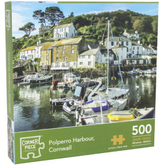 Product shot Polperro Harbour Cornwall 500 Piece Jigsaw Puzzle