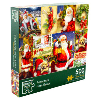 Product shot Postcards From Santa 500 Piece Jigsaw Puzzle