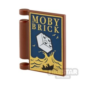 Product shot Printed Book Cover 2x2 Moby Brick