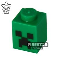 Product shot Printed Brick 1x1 - Minecraft Creeper