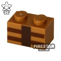 Product shot Printed Brick 1x2 - Minecraft Brick