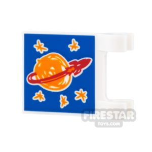 Product shot Printed Flag 2x2 - Classic Space Logo