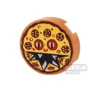 Product shot Printed Round Tile 2x2 - Monster Pizza