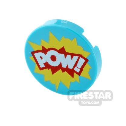 Product shot Printed Round Tile 2x2 - POW!