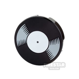 Product shot Printed Round Tile 2x2 - Vinyl Record