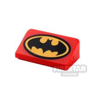 Product shot Printed Slope 1x2x2/3 - Batman Logo