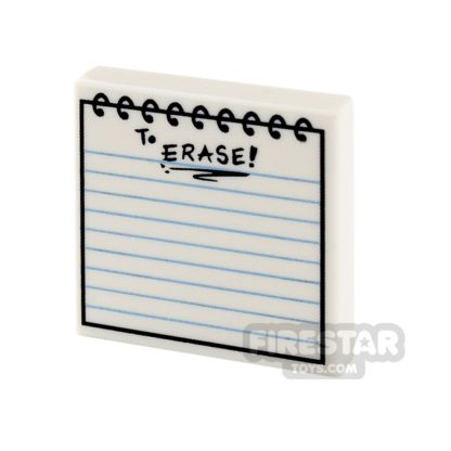 Product shot Printed Tile 2x2 - Notepad
