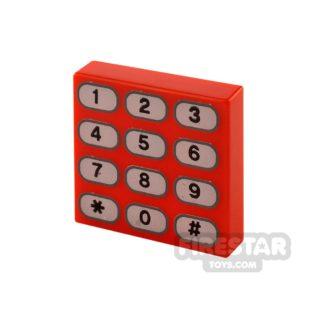 Product shot Printed Tile 2x2 - Phone Keypad