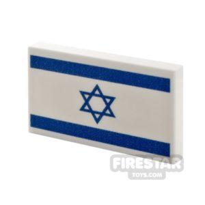 Product shot Printed Tile 2x3 Israeli Flag