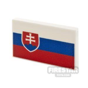 Product shot Printed Tile 2x3 Slovakian Flag