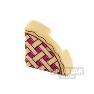 Product shot Round Quarter Tile 1 x 1 - Pie Slice