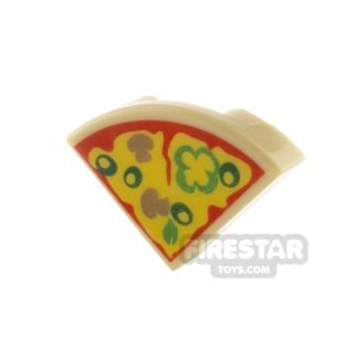 Product shot Round Quarter Tile 1 x 1 - Pizza Slice