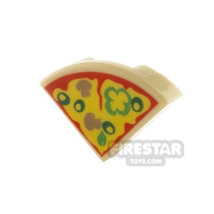 Product shot Round Quarter Tile 1 x 1 - Pizza Slice
