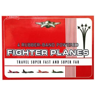Product shot Rubber Band Powered Fighter Plane