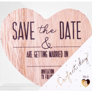 Product shot Save The Date Wooden Magnets: Pack Of 8