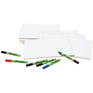 Show-me A4 Rigid MDF Plain Dry Wipe Boards pack of 10