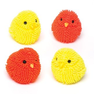 Squashy Flashing Chicks - 4 Flashing Light Toys In Assorted Colours. Squishy Toy Squishies. Size 4.5cm.