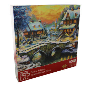 Product shot Stone Bridge To The Winter Estate 1000 Piece Jigsaw Puzzle