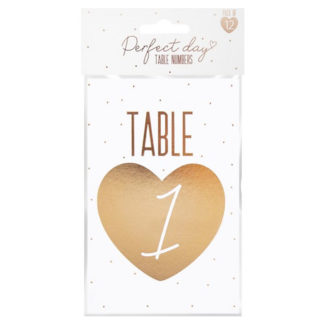 Product shot Table Numbers