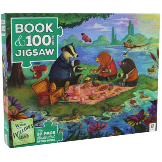 Product shot The Wind In The Willows 100 Piece Jigsaw Puzzle And Book Set