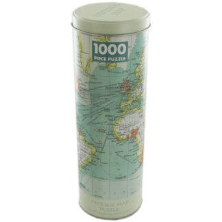 Product shot Tin Capsule Vintage Map 1000 Piece Jigsaw Puzzle