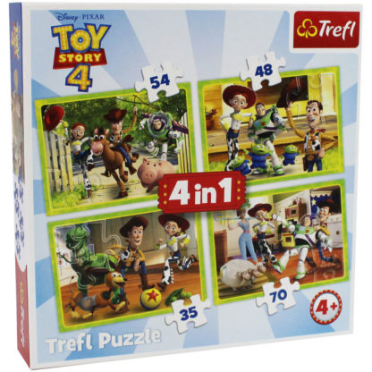 Product shot Toy Story 4 4-In-1 Jigsaw Puzzle Set
