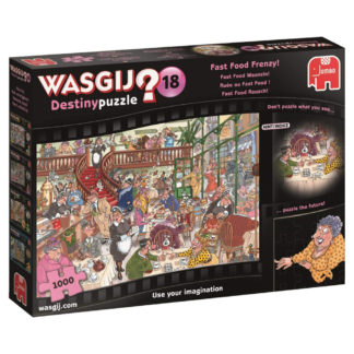 Product shot Wasgij Destiny 18 Fast Food Frenzy 1000 Piece Jigsaw Puzzle