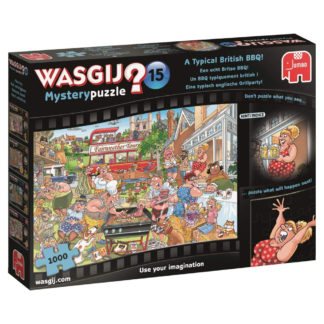 Product shot Wasgij Mystery 15 A Typical British Bbq 1000 Piece Jigsaw Puzzle