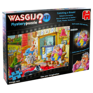 Product shot Wasgij Mystery 17 Catching A Break 1000 Piece Jigsaw Puzzle