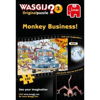 Product shot Wasgij Original 3 Monkey Business 150 Piece Jigsaw Puzzle
