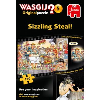 Product shot Wasgij Original 5 Sizzling Steal 150 Piece Jigsaw Puzzle