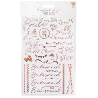 Product shot Wedding Day Glass Stickers