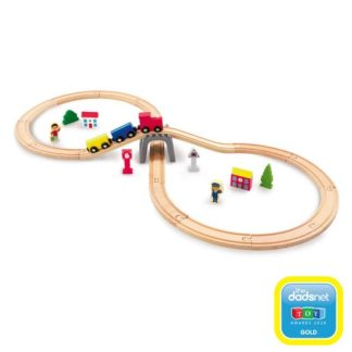 Woodlets 30 Piece Train Set