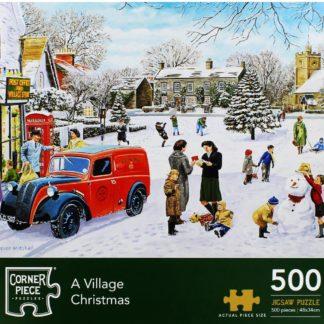 Product shot A Village Christmas 500 Piece Jigsaw Puzzle