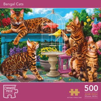 Product shot Bengal Cats 500 Piece Jigsaw Puzzle