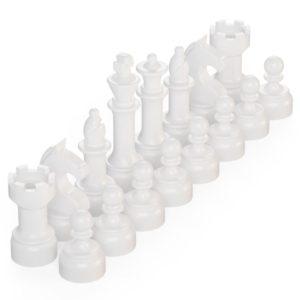 Product shot BrickMini Chess Pieces - White Set