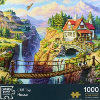 Product shot Cliff Top House 1000 Piece Jigsaw Puzzle