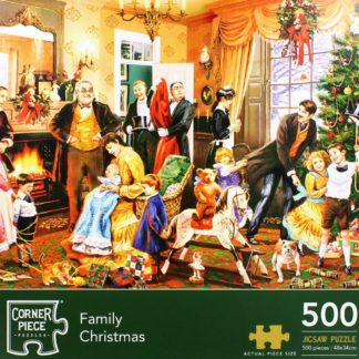Product shot Family Christmas 500 Piece Jigsaw Puzzle