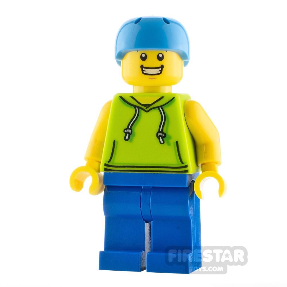 Product shot LEGO City Minfigure Skateboarder Male