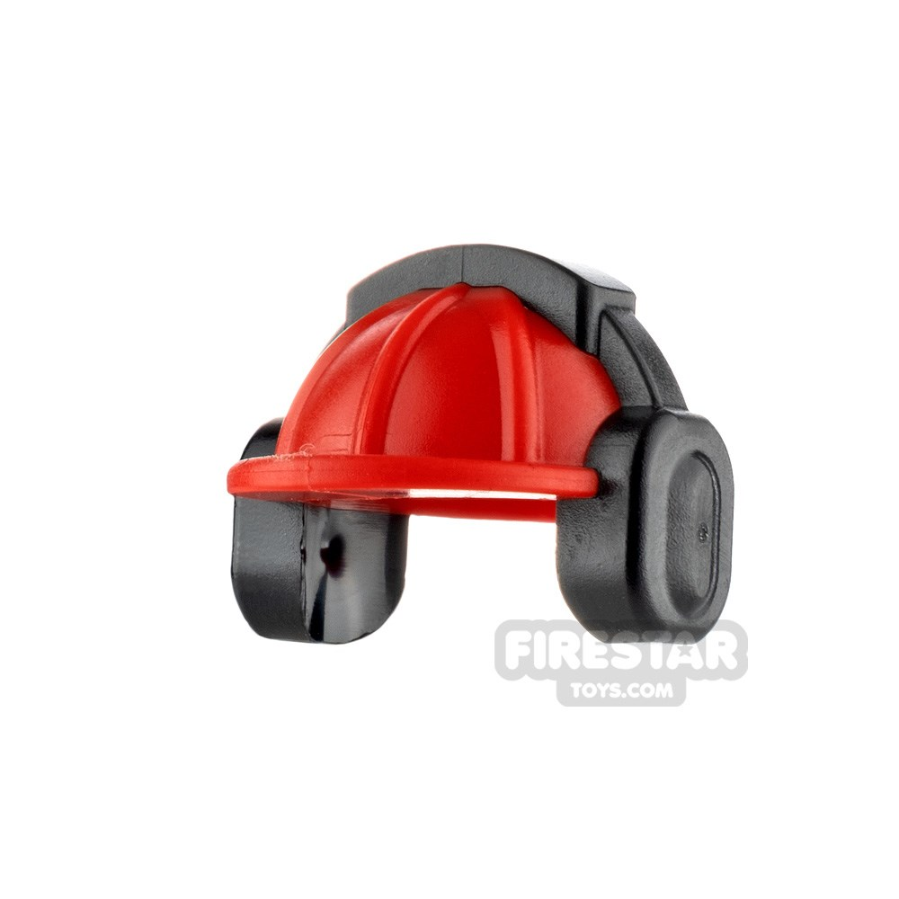 Product shot LEGO - Construction Hard Hat Helmet with Ear Defenders - Red
