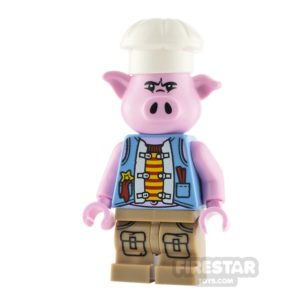 Product shot LEGO Monkie Kid Minifigure Pigsy Blue Vest
