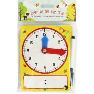 Product shot Learn The Time Wipe Clean Clocks - 6 Pack