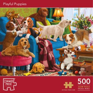 Product shot Playful Puppies 500 Piece Jigsaw Puzzle