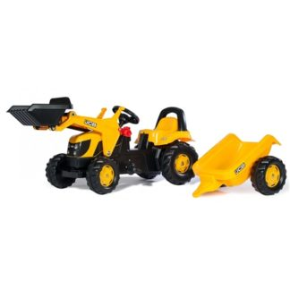 Rolly Toys Kid JCB Tractor & Trailer & Loader - Yellow